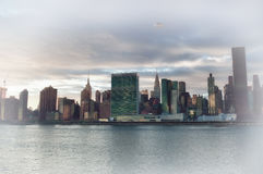Manhattan skyline HDR. HDR view of the Manhattan skyline Royalty Free Stock Images