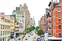 Manhattan skyline from the High Lane Park Stock Images