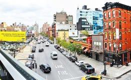 Manhattan skyline from the High Lane Park Royalty Free Stock Image