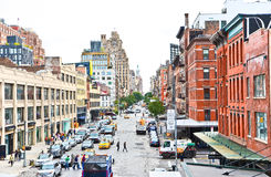 Manhattan skyline from the High Lane Park Stock Photo