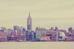 Manhattan Skyline from Hoboken Royalty Free Stock Photos