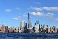 Manhattan skyline and Hudson river. Stock Images