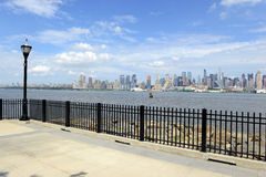 Manhattan skyline with Hudson River, New York Cit Royalty Free Stock Photography