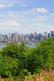 Manhattan skyline with Hudson River, New York Cit Royalty Free Stock Images
