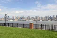 Manhattan skyline with Hudson River, New York Cit Stock Photos