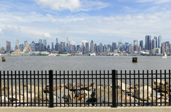 Manhattan skyline with Hudson River, New York Cit Royalty Free Stock Photos