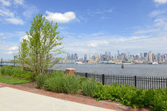 Manhattan skyline with Hudson River, New York Cit Royalty Free Stock Image
