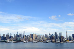 Manhattan skyline with Hudson River, New York Cit Royalty Free Stock Photo