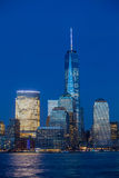 Manhattan Skyline from Jersey at twilight, New York Royalty Free Stock Images