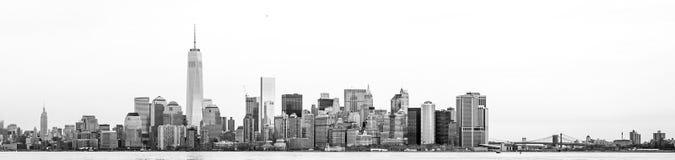 Manhattan Skyline. From Liberty Statue, New York Stock Photos