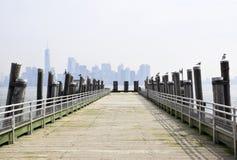 The Manhattan Skyline royalty free stock photography
