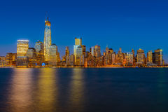 Manhattan-Skyline Stockbilder