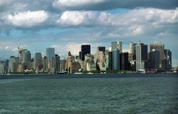Manhattan Skyline New York USA Stock Photo