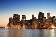 Manhattan skyline in New York City Royalty Free Stock Images