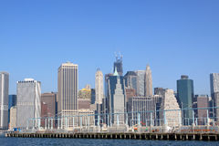 Manhattan-Skyline, New York City Stockbilder