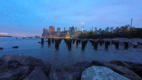 Manhattan Skyline, New York City. stock footage