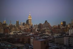Manhattan Skyline, New York City Royalty Free Stock Image