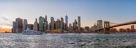 Manhattan skyline New York City stock photo