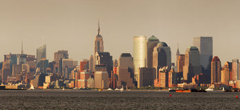 Manhattan skyline, New York City panorama Stock Images