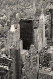 Manhattan skyline with New York City skyscrapers Stock Photos