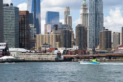 Manhattan skyline Royalty Free Stock Photo