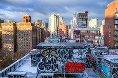 Manhattan skyline in New York City royalty free stock image