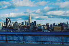 Manhattan skyline New York featuring the Empire State Building Royalty Free Stock Images