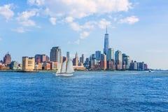 Manhattan skyline New York sunshine US Royalty Free Stock Photos