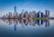 Manhattan Skyline, Manhattan, New York, USA. A Panoramic view of the Manhattan Skyline, New York, USA Royalty Free Stock Image