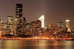 Manhattan skyline at Night Stock Images