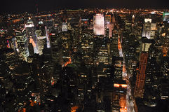 Manhattan skyline at night Royalty Free Stock Photo