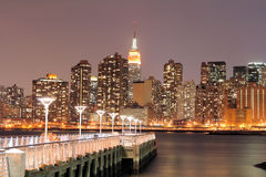 Manhattan skyline at Night Stock Image