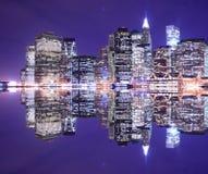 Manhattan skyline at Night Royalty Free Stock Photo