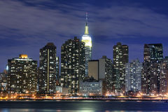 Manhattan skyline at Night Stock Images