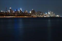 Manhattan skyline at Night Lights, New York City Royalty Free Stock Image