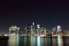 Manhattan Skyline at Night, New York City Royalty Free Stock Image