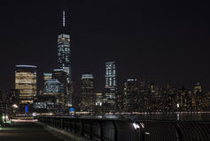 Manhattan skyline at night, New York City Stock Photo