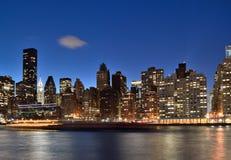 Manhattan skyline at night. Stock Photography