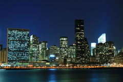 Manhattan skyline at Nights Stock Photo