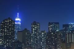 Manhattan skyline at Nights Stock Image