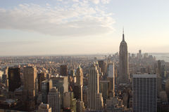 Manhattan Skyline, NY at dusk Stock Images