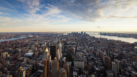 Manhattan skyline NYC. View of NYC from Empire State at sunset Stock Photography
