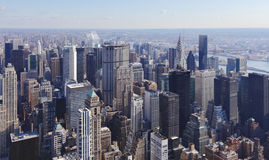 Manhattan Skyline NYC. Aerial view of New York City, Manhattan skyline.  NYC