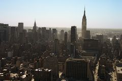 Manhattan skyline, NYC Royalty Free Stock Image