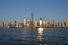 Manhattan-Skyline, NYC Stockbild