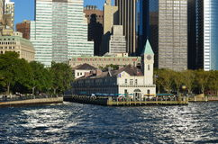 Manhattan-Skyline, NYC, USA Stockbild