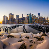 Manhattan Skyline with the One World Trade Center building at tw Royalty Free Stock Photography