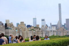 Manhattan skyline over Central Park Royalty Free Stock Photography