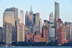 Manhattan Skyline over Hudson river Stock Photography