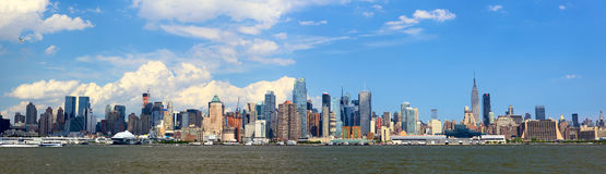 Manhattan skyline panorama Stock Photos